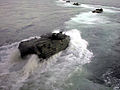 US Navy 990610-N-0000H-001 26th MEU AAV's disembark from the USS Gunston Hall.jpg