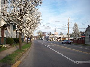 Ceredo, West Virginia - Looking east along U.S. Route 60 from C Street