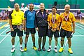 US Senior International Badminton Tourney (Miami) - MD55 Finals - Paisan&Pedro def Dudley & Soni 21-16, 13-21, & 21-18 (16463565929).jpg