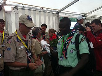 The Gambia Scout Association - Image: US and Gambian Scouts (5998122274)