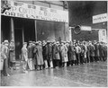 Unemployed men queued outside a depression soup kitchen opened in Chicago by Al Capone, 02-1931 - NARA - 541927.tif