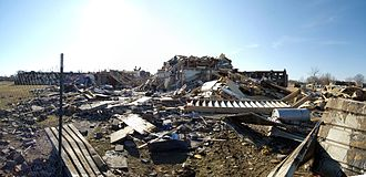 Jackson, Tennessee - Destroyed dormitory building in February 2008.
