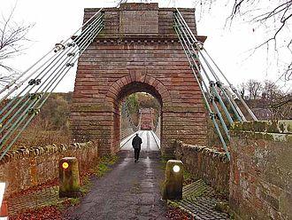 Union Bridge (Tweed) - Pier at the Scottish end