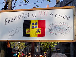 Demonstration in Brussels, Sunday, November 18...