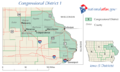 United States House of Representatives, Iowa District 1 map.png