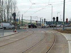 University Boulevard tramway crossing (geograph 4394463).jpg