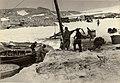 Unloading supplies at Cape Denison, 1911-1914 (6438929857).jpg
