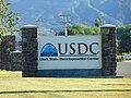 Utah State Developmental Center sign on SR-129, Jun 16.jpg