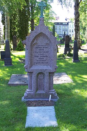 Christian Heinrich Grosch - Headstone of Christian Henrik Grosch at Vår Frelsers gravlund, Oslo