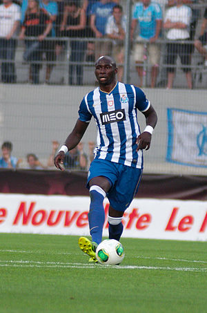 Eliaquim Mangala - Mangala in action for Porto against Marseille in a friendly in July 2013