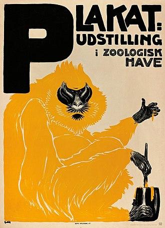 Valdemar Andersen (artist) - Image: Valdemar Andersen Plakatudstilling i Zoo (1907)