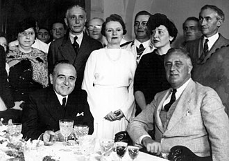 International relations (1919–1939) - Brazil's President Getúlio Vargas (left) meets with U.S. President Franklin D. Roosevelt (right) in 1936, hoping a good relationship with the United States would deter an attack from Argentina..