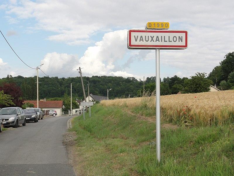 Vauxaillon (Aisne) city limit sign
