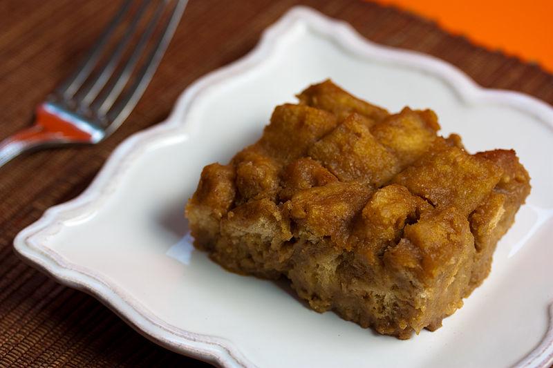http://commons.wikimedia.org/wiki/File:Vegan_Pumpkin_Bourbon_Bread_Pudding_%284106876375%29.jpg