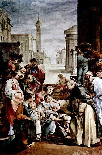 Ventura Salimbeni - Saint Hyacinth healing the Blind Twins.