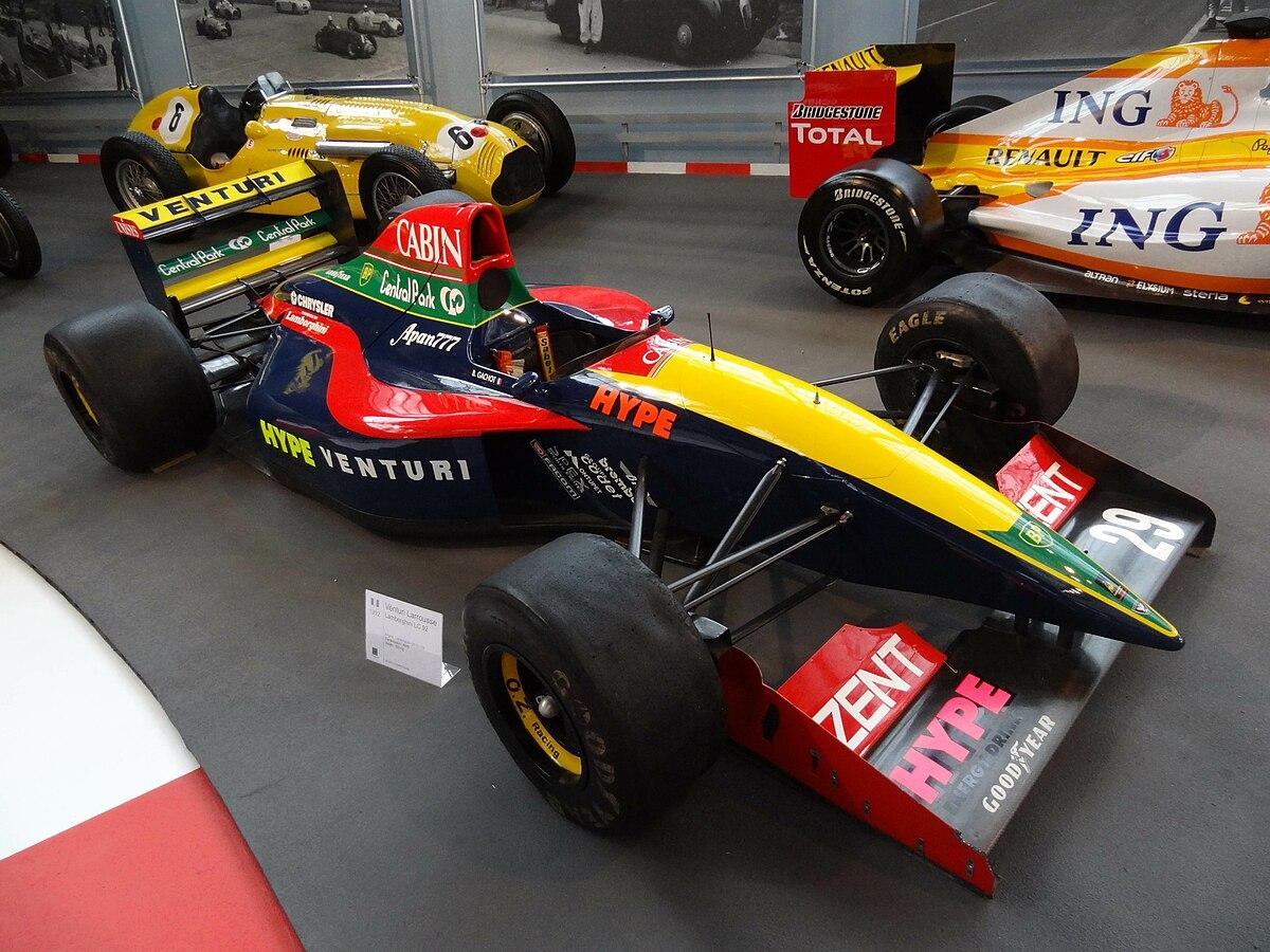 Venturi F1 1992 - Foto By Wikipedia por Liondartois