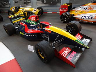 Larrousse - The 1992 Venturi-Larrousse LC92, currently on display in AutoWorld in Brussels