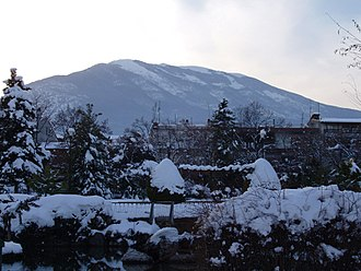 Naousa, Imathia - Vermio covered in snow