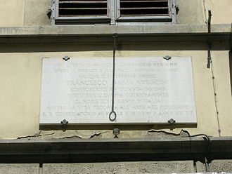 Francesco Maria Veracini - Plaque commemorating Veracini on via Palazzuolo 30, Florence