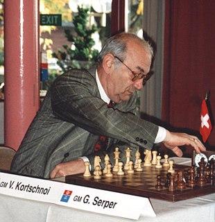 Viktor Korchnoi Russian chess grandmaster