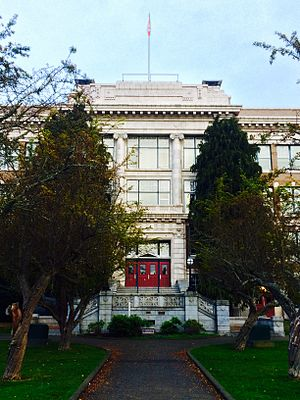 Victoria High School (British Columbia) - Vic High - main entry, froth south