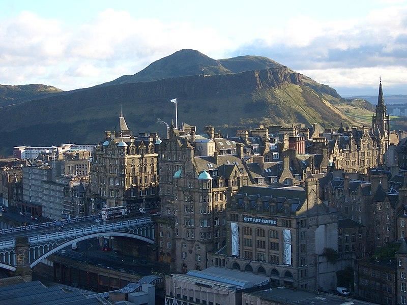 View of Edinburgh's Old Town from the Scott Monument