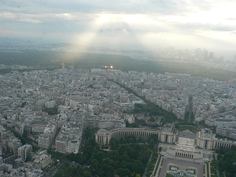 File:View from the Eiffel Tower third floor Bois de Boulogne 2007.jpg