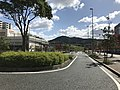 View in front of south entrance of Kyudai-Gakkentoshi Station.jpg