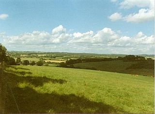 North Wessex Downs AONB located in the English counties of Berkshire, Hampshire, Oxfordshire and Wiltshire