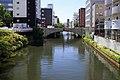 View of Hori River from the top of Naka-Bashi Bridge, Nagoya 2014.jpg