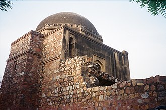 Siri Fort - View of Tohfe Wala Masjid in Siri Fort area near Shahpur Jat village.