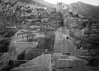 Moorish Castle - View of the Moorish Castle's northern defences as seen from the Grand Battery in 1879