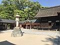 View of gate of Shimotsu Shrine in Oyamazumi Shrine.jpg