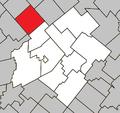 Villeroy Quebec location diagram.png