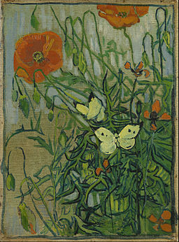 Vincent van Gogh - Butterflies and poppies - Google Art Project