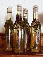 Vinegar infused with oregano