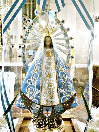 Our Lady of Luján - Image: Virgen de Luján Réplica