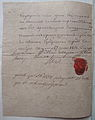 Vitebsk district marshal of nobility Waclaw Kossow certificate to Victor Gejnysz - page 2 - 1813 AD.JPG