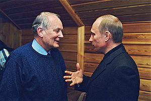 Andrey Nikolayevich Sakharov - Sakharov with the President of Russia, Vladimir Putin, on 28 March 2002