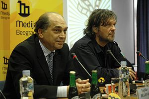Küstendorf Film and Music Festival - Kusturica and Serbian Minister of Culture Voja Brajović announce the new film and musical festival in December 2007.