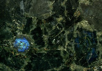"Zhytomyr Oblast - ""Volga Blue Granite"" (anorthosite), a popular decorative stone quarried between the cities of Korosten and Zhytomyr, central Zhytomyr Oblast."