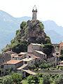 Vue de Sigale à partir de la route de Roquesteron - Détail.JPG