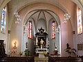Vue intérieure de l'Eglise de Tuntange Grand-Duché de Luxembourg.JPG