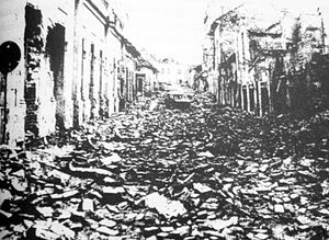Serbia in the Yugoslav Wars - Ruins in Vukovar in 1991 after the JNA invasion.