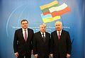 Vydas Gedvilas Bogdan Borusewicz Volodymyr Rybak 01 Senate of Poland.JPG