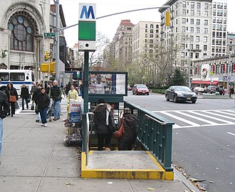 National Register of Historic Places listings in Manhattan from 59th to 110th Streets - Image: W79 irt st jeh