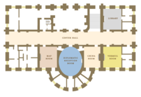White House Ground Floor showing location of p...