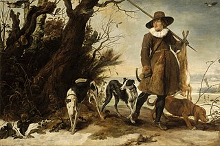 Hunter in a Winter Landscape with Dogs