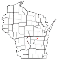 Location of Eureka, Wisconsin