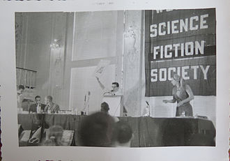 Science fiction fandom - Banquet at the 14th World Science Fiction Convention in New York City in 1956